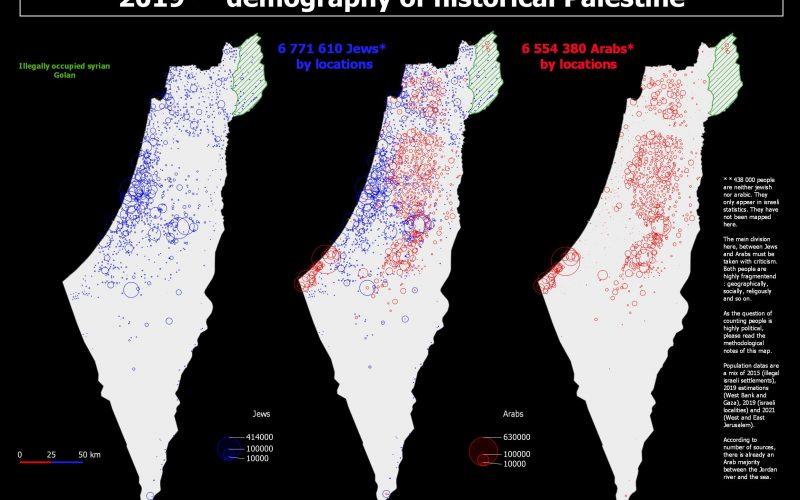 Démographie actuelle de la Palestine historique