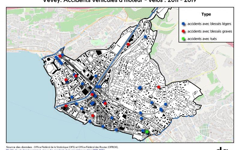 Vevey : accidents de la route
