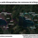 Anamorphose des communes de la Riviera
